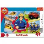 Trefl-31351 Puzzle Cadre - Sam le Pompier