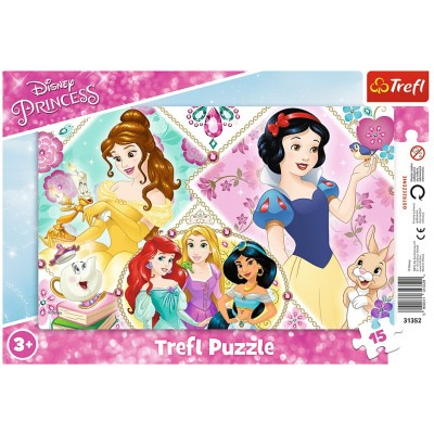 Trefl-31352 Puzzle Cadre - Disney Princess