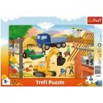 Trefl-31354 Puzzle Cadre - Sur le Chantier
