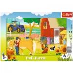 Trefl-31356 Puzzle Cadre - Animaux de la Ferme