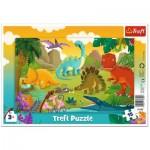 Trefl-31359 Puzzle Cadre - Dinosaures