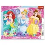Trefl-31360 Puzzle Cadre - Disney Princess