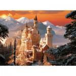 Trefl-33025 Allemagne : Neuschwanstein sous la neige