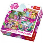 Trefl-34153 4 Puzzles en 1 : My Little Pony