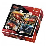 Trefl-34276 4 Puzzles - Cars 3
