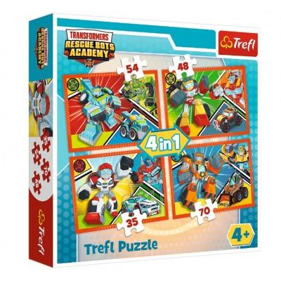 Trefl-34313 4 Puzzles - Transformers