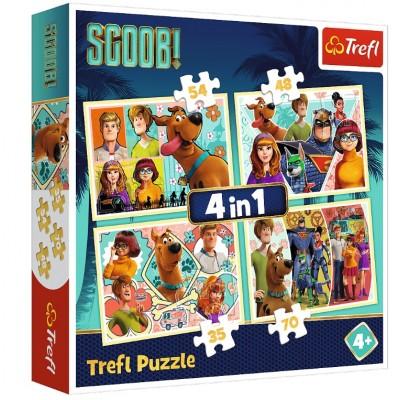 Trefl-34340 4 Puzzles - Scooby Doo