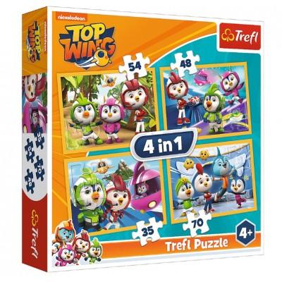 Trefl-34342 4 Puzzles - Nickelodeon - Top Wing