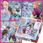 Trefl-34832 3 Puzzles - La Reine des Neiges
