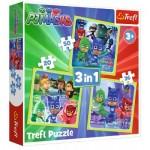Trefl-34840 3 Puzzles - PJ Masks