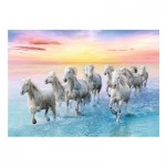 Trefl-37289 Galloping White Horses