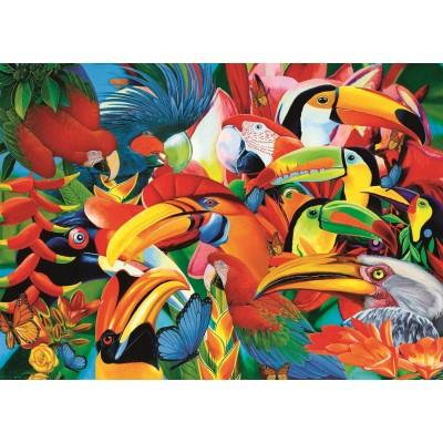 Trefl-37328 Colorful Birds