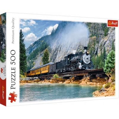 Trefl-37379 Train dans la Montagne