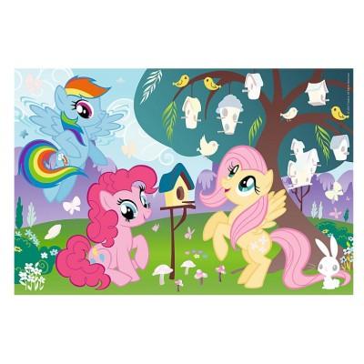 Trefl-75116 My Little Pony - Puzzle + Stickers