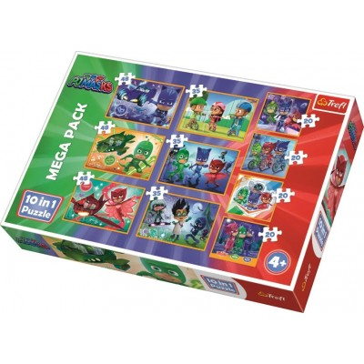 Trefl-90357 Mega Pack 10 Puzzles - PJ Masks