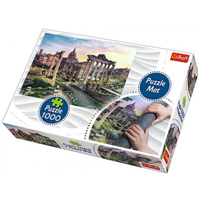 Trefl-90723 Tapis + Puzzle - Rome, Italie