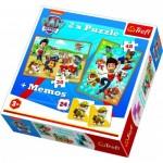 Trefl-90790 2 Puzzles + Memo - Pat'Patrouille