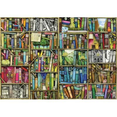 Wentworth-441613 Puzzle en Bois - Colin Thompson : Bibliothèque Magique