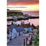 Wentworth-501305 Puzzle en Bois - Joe Cornish: Whitby Harbour, Summer Twilight