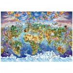 Wentworth-702513 Puzzle en Bois - World Wonders