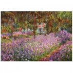 Wentworth-741004 Puzzle en Bois - Claude Monet - The artist's garden in Giverny