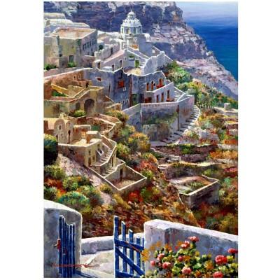 Wentworth-751805 Puzzle en Bois - Above Santorini