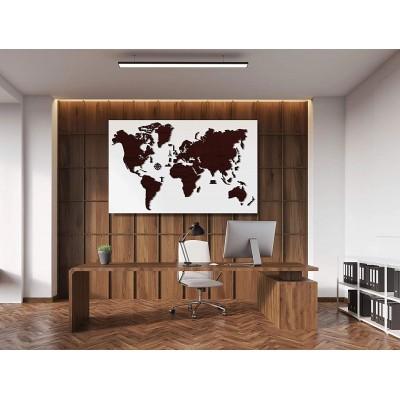 Wooden-City-WM506/1-8237 Puzzle en Bois - Carte du Monde XXL (Chêne Foncé)
