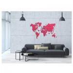 Wooden-City-WM506/2-8268 Puzzle en Bois - Carte du Monde XXL (Corail)