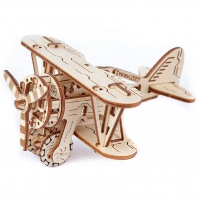 Wooden-City-WR304-8039 Puzzle 3D en Bois - Biplane