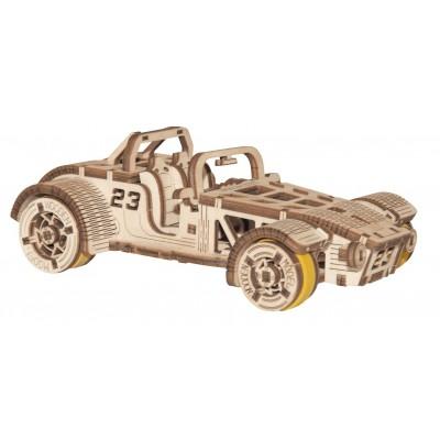 Wooden-City-WR337-8695 Puzzle 3D en Bois - Roadster