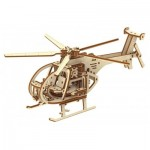 Wooden-City-WR344 Puzzle 3D en Bois - Hélicoptère