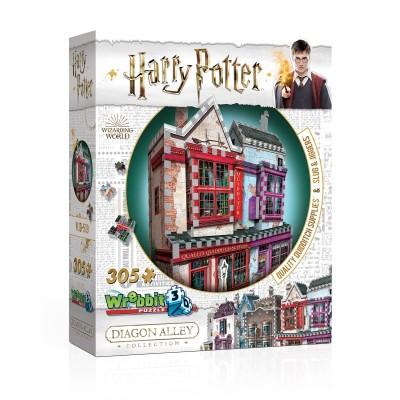 Wrebbit-3D-0509 Puzzle 3D - Harry Potter (TM) - Magasin d'Accessoires de Quidditch et Slug & Jiggers