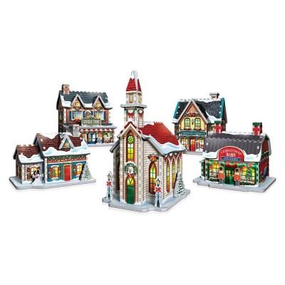 Wrebbit-SP-5601 Puzzle 3D - Village de Noël