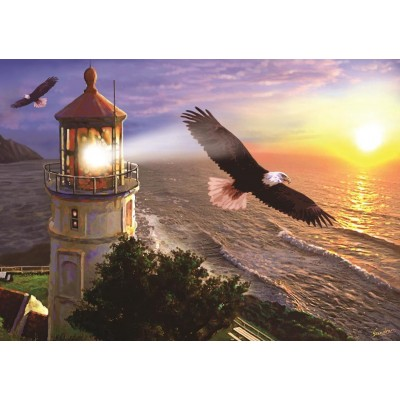 Art-Puzzle-4221 High Flight at the Sun Rise