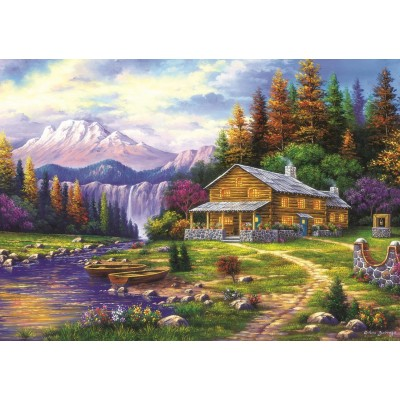 Art-Puzzle-4230 Sunset in the Mountains