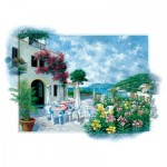 Art-Puzzle-5026 Beach Cafe