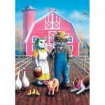 Art-Puzzle-5028 Cat Farm