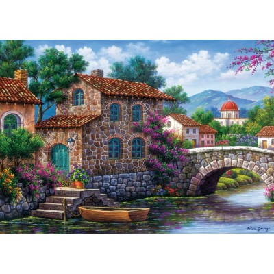 Art-Puzzle-5070 Flowery Channel