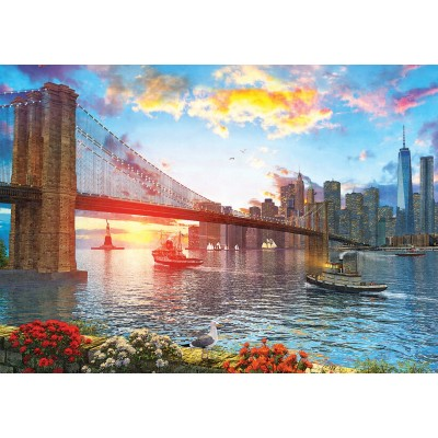 Art-Puzzle-5185 Sunset in New York