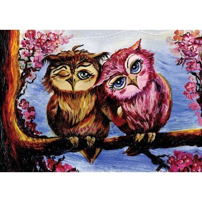 Art-Puzzle-5211 Owls in Love