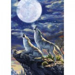 Art-Puzzle-5217 Full Moon Wolves