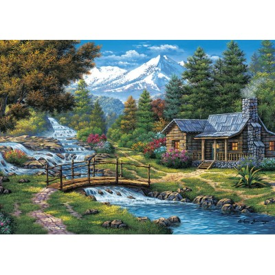 Art-Puzzle-5471 Two Small Waterfalls