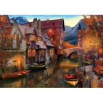 Art-Puzzle-5476 Canal Boats