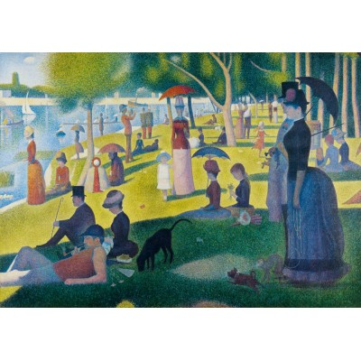 Art-by-Bluebird-60086 Georges Seurat - A Sunday Afternoon on the Island of La Grande Jatte, 1886