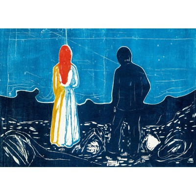 Art-by-Bluebird-60129 Edvard Munch - Two People: The Lonely Ones, 1899