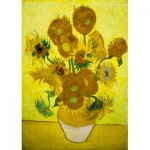 Art-by-Bluebird-Puzzle-60003 Vincent Van Gogh - Sunflowers, 1889