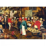 Art-by-Bluebird-Puzzle-60025 Pieter Brueghel the Younger - Peasant Wedding Feast