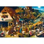 Art-by-Bluebird-Puzzle-60028 Pieter Bruegel the Elder - Netherlandish Proverbs, 1559