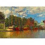 Art-by-Bluebird-Puzzle-60031 Claude Monet - Boats at Zaandam, 1871