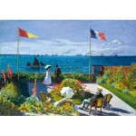 Art-by-Bluebird-Puzzle-60042 Claude Monet - Garden at Sainte-Adresse, 1867